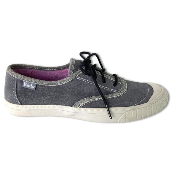 Keds Gray Suede-Like Tennis Shoes